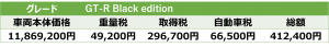 Black edition税額表