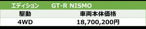 GT-R NISMO価格表