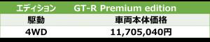 GT-R Premium edition価格表