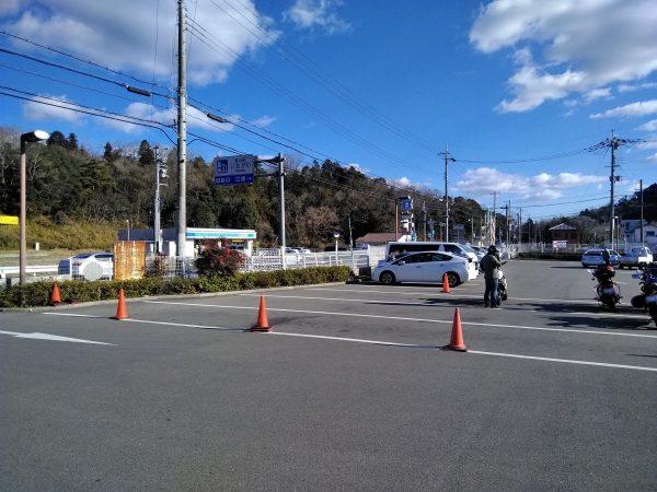 道の駅いながわバイクの駐輪スペース