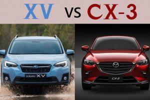 XV とCX-3のフロントビュー比較