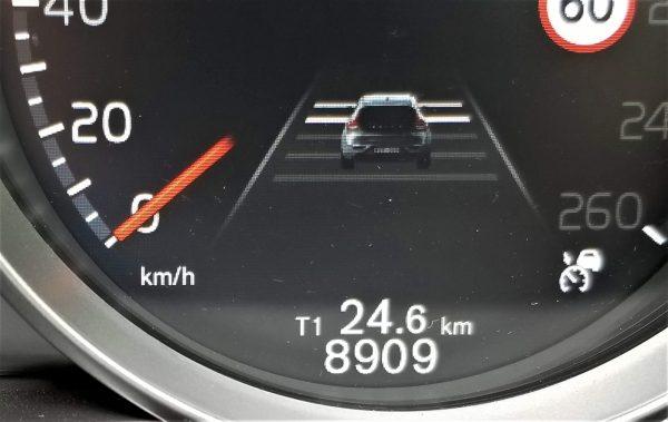 ボルボV40の車間距離設定