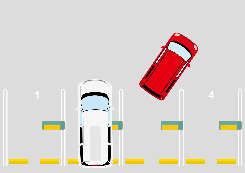 空スペースを車が探す自律式