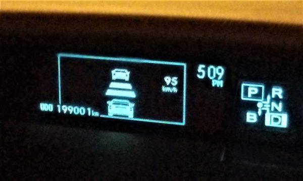 19万キロ走行のプリウス