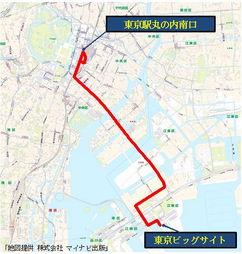 SORA交通局路線図