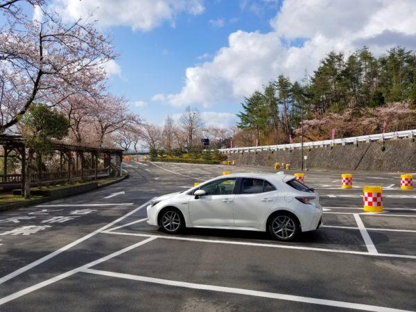 奥琵琶湖パークウエイの駐車場