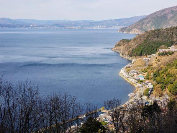 奥琵琶湖パークウエイからの眺め