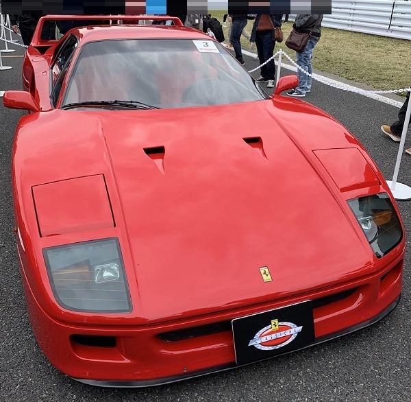 モーターファンフェスタ・フェラーリF40フロント