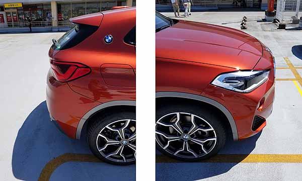 BMW X2 のバンパー形状